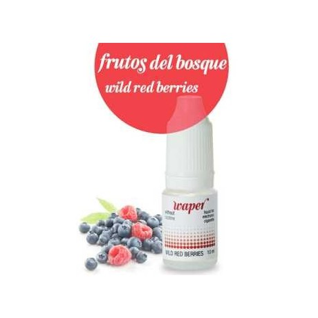 WAPER FRUTOS DEL BOSQUE 10 ML 12 MG